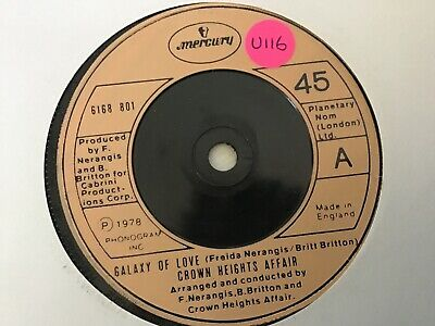 £2.99 • Buy Crown Heights Affair - Galaxy Of Love.     Used 7  Single Record