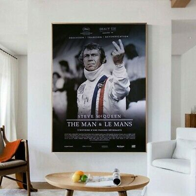 AU21.48 • Buy LE MANS F1 Racing Posters Senna 24 Hours Endurance Race Canvas Painting Car Wall