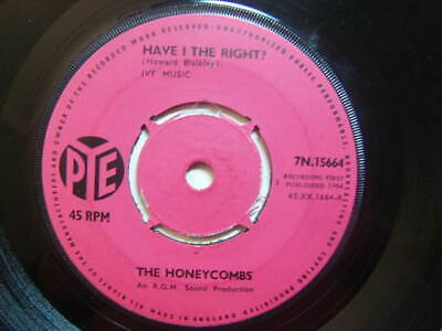 """£3.50 • Buy The Honeycombs – Have I The Right 1964 7"""" Pye 7N.15664 4-prong Centre"""