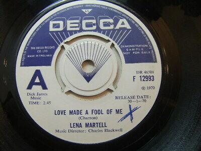 """£3.50 • Buy Lena Martell – Love Made A Fool Of Me 1970 Demo 7"""" Decca F 12993"""