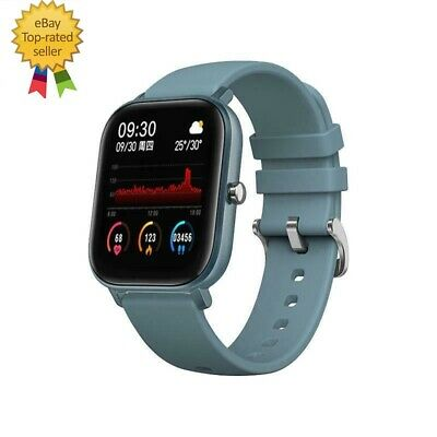 AU46.91 • Buy Smart Watch Heart Rate Blood Pressure Monitor, 200+ Faces -Blue