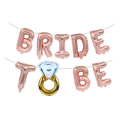 AU4.90 • Buy 16inch Bride To Be Letter Foil Balloons Diamond Ring Balloon For Wedding Part^LO