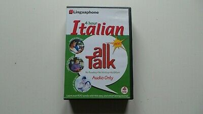 £8.99 • Buy Linguaphone 4 Hour Italian All Talk 4 Cd's And Booklet Language Course