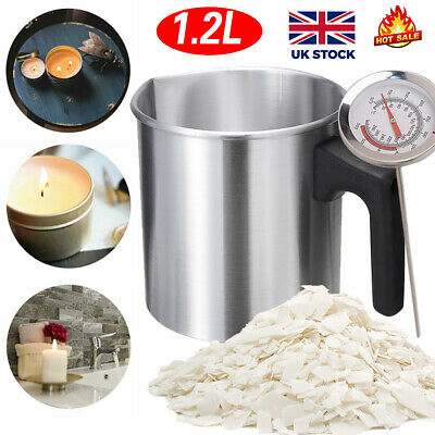 £5.99 • Buy 1.2L Wax Melting Pot Pouring Pitcher Jug Aluminium Candle Soap Make Thermometer