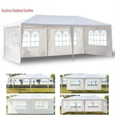 £104.99 • Buy 3X3/6/9M Garden Gazebo Marquee Party Tent Wedding Canopy Shade Outdoor 3 Sizes