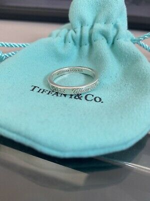 £150 • Buy Rare Gorgeous Tiffany And Co New York Sterling Silver Ring With Pouch Size N