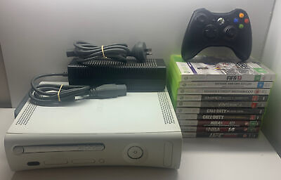 AU159.99 • Buy Xbox 360 White Console + Controller + 10 Games & Console And Controller Bags