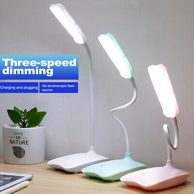 AU14.59 • Buy Touch LED Desk Lamp Bedside Office Study Reading Table Light USB Ports Dimmable