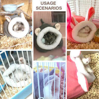 £2.90 • Buy Pet Cage For Hamster Accessories Pet Bed Mouse Cotton House Small Animal Nes*LO