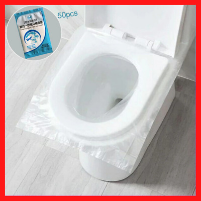 £5.80 • Buy 50Pcs Biodegradable Disposable Plastic Toilet Seat Cover Travel Covers Hygienic