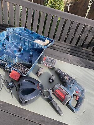 £180 • Buy Bosch GBH 36VF Professional Hammer Drill, 2 X Batteries Charger Case