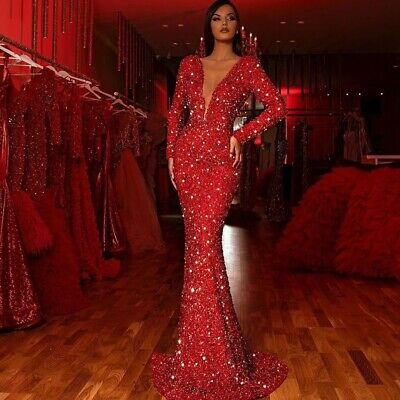 £26.99 • Buy Women's Bodycon Long Dress Evening Cocktail Party Ball Gown Prom Formal Dress