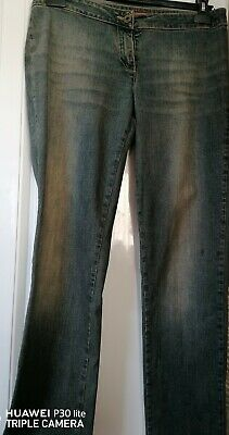 £29.95 • Buy Indian Rose Distressed High Waist Bell Blue Jeans Size 10 L39 W32 Extra Tall