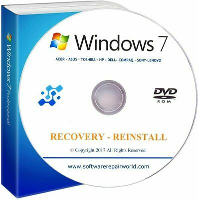 £15.99 • Buy Home Premium Microsoft Windows 7 32 Pack And 64 Bit Reinstall And Recovery Disc