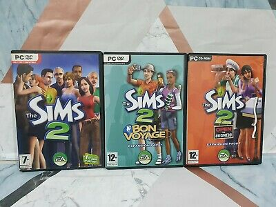 £10 • Buy The Sims 2 Plus Bon Voyage And Open For Business Expansions - PC: Windows