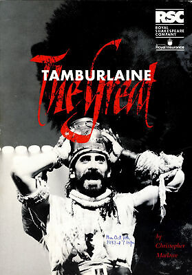 £5.65 • Buy Tamburlaine The Great By Christopher Marlowe 1993 RSC Theatre Programme Refb1190
