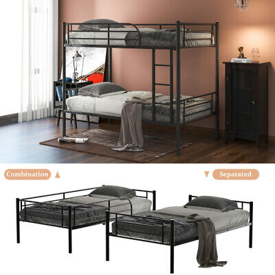 £167 • Buy Triple Bunk Bed 3FT Single & 4FT6 Double Bed Frame Solid Wooden Pine With Stair