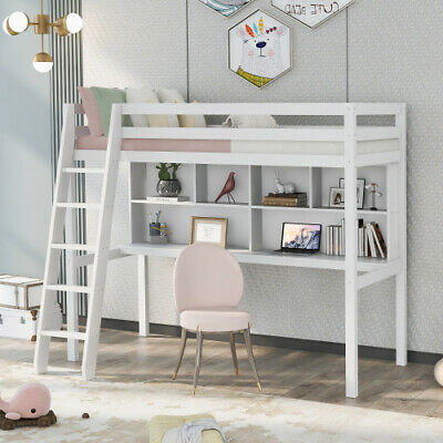 £168.90 • Buy Triple Sleeper Bunk Bed Solid Wooden Frame Kids Double & Single 4FT6 3FT White