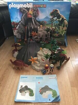 £49.99 • Buy Playmobil 5230 Volcano With Dinosaurs, Fossils, T-rex, Explorers