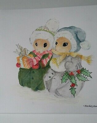 £2.50 • Buy Hand Painted Greeting Card. Christmas With The Mice
