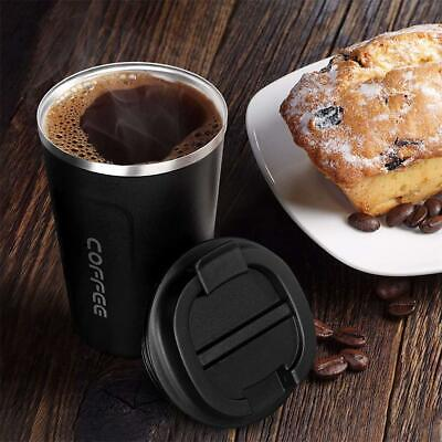£8.49 • Buy Insulated Coffee Mug Cup Thermal Stainless Steel Vacuum Flask Travel Leakproof