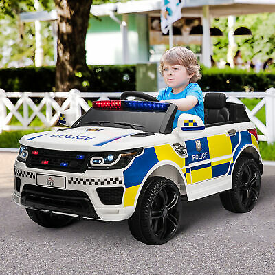 £200.99 • Buy 12V Kid Electric Ride On Police Car W/ Remote Siren Light Bluetooth 3-6 Years