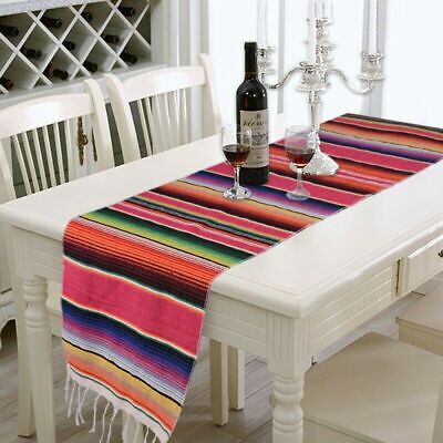AU16.79 • Buy Table Runner Rainbow Tablecloth Cotton Tapestry Home Dining Table Decor 34*212cm