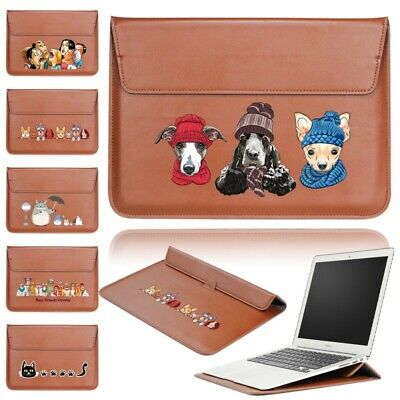 £10.99 • Buy PU Leather Laptop Sleeve Pouch Bag Case Fit Apple IPad Pro/Macbook Air 11/Pro 15