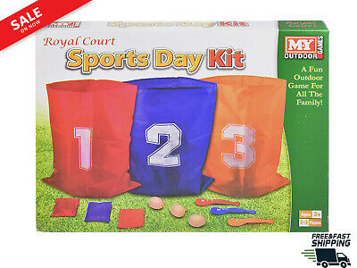 £7.75 • Buy The Magic Toy Shop 3 In 1 Sports Day Kit Sack Race Egg And Spoon Race Set Bean