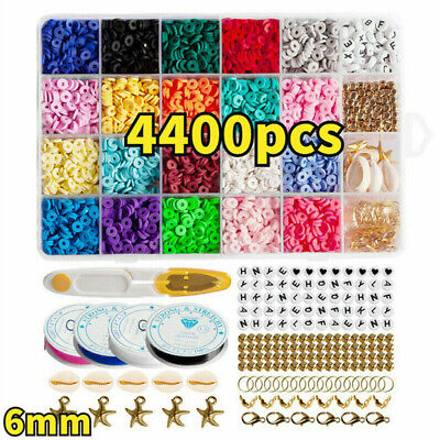 £14.69 • Buy 1 Set Polymer Clay Beads Spacer For DIY Bracelets Jewelry Making Finding UK
