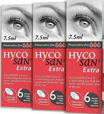 £22.29 • Buy 3 X Hycosan Extra Preservative Free DRY Eye Drops RECOMMENDED BY OPTICIANS