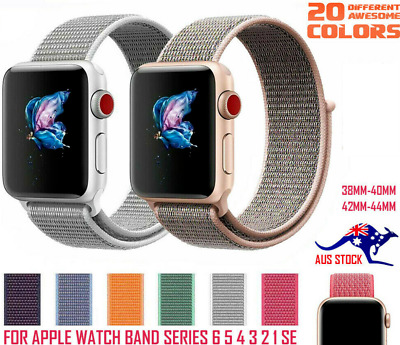 AU6.35 • Buy For Apple Watch IWatch Sports Band Series 6 5 4 3 2 1 SE 38mm 40mm 42mm 44 Strap