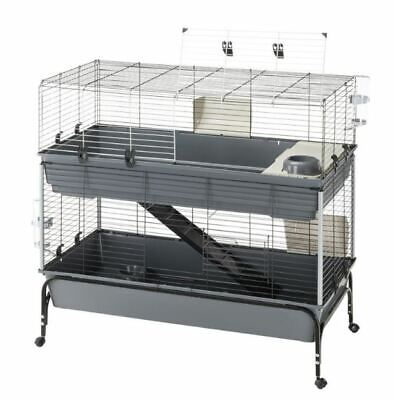 £159.99 • Buy Large Spacious Baby Rabbit Guinea Pig Indoor Small Pet Cage 2 Tier 120 Cm Black