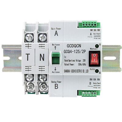 £36.19 • Buy Smart Automatic Transfer Switch Home Dual Power 2P 63A 220V Changeover Switches