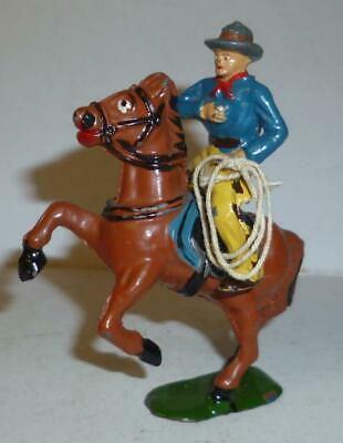 £6.75 • Buy Timpo Vintage Lead Wild West Mounted Cowboy With Lasso, From The 1940/50's