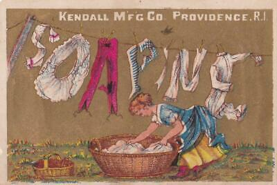 AU26.19 • Buy Victorian Trade Card Clothes On Line Spell Soapine - Charlotte Perkins Gilman X