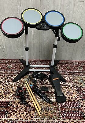£90.95 • Buy Rock Band Harmonix PS2 PS3 PS4 Wireless Drum Set PSDMS2 W/ Pedal With Dongle