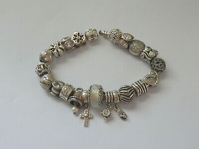 AU16 • Buy Choice Of GENUINE PANDORA Sterling SILVER, CLEAR & WHITE Charms