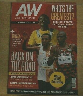£9.95 • Buy Athletics Weekly Magazine Sep '21 Who's The Greatest Male Distance Runner Of All