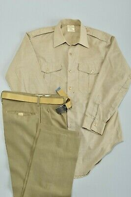 £4.20 • Buy South African Army SADF 1970s Uniform Shirt, Trousers And Belt. Ref 7CH