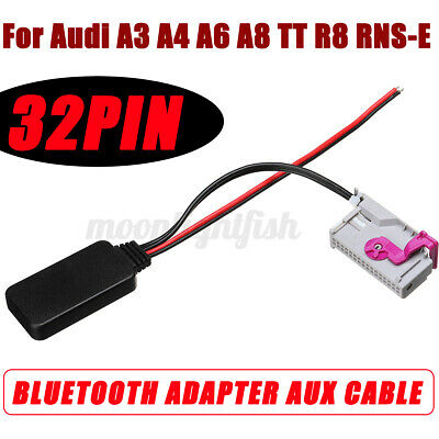 £8.95 • Buy For Audi A3 A4 A6 A8 TT R8 RNS-E 32Pin Bluetooth Module Audio Aux Cable Adapter