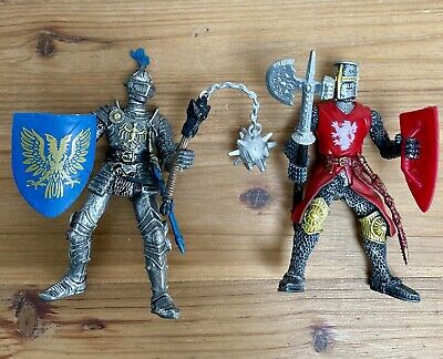 £15 • Buy 2 X PAPO Knights Moveable Action Figures 2004