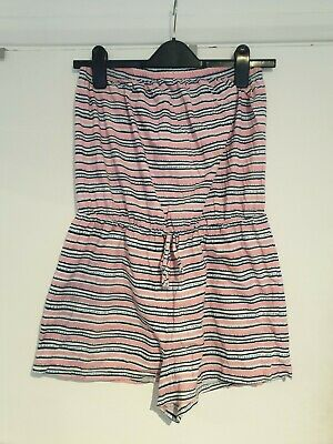 £0.99 • Buy Matalan Stripey Bandeau Playsuit Beach Holiday Pool - Size M
