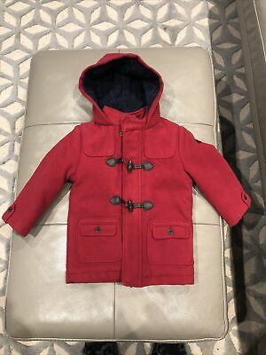 £4.19 • Buy Mayoral Boys Red Wool Furry Lined Duffle Coat 18 Months (more 12-18 Months) VGC