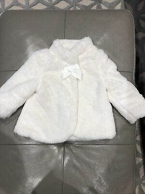 £4.99 • Buy Mayoral Baby Girl Cream Fur Coat 12 Months (fit 9-12, 12-18 Months) Worth £50