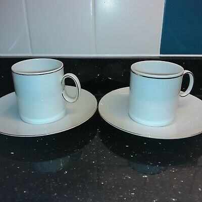 £5 • Buy Thomas China Thin Gold Band Coffee Cups & Saucers X 2
