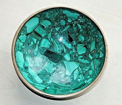 £17.99 • Buy A Vintage Hand Carved Malachite Stone Congolese African Bowl 13.5 Cms