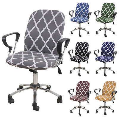 AU16.82 • Buy Split Computer Office Chair Cover Protector Stretch Desk Rotating Seat Slipcover