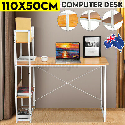 AU85.99 • Buy Upgraded Computer Desk Laptop Student Table Home Office Study Wooden Metal Frame