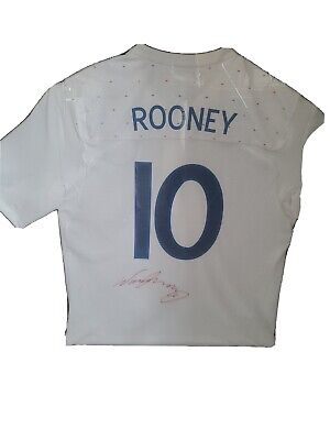 £80 • Buy England Football Shirt Rooney Signed And Professionally Mounted